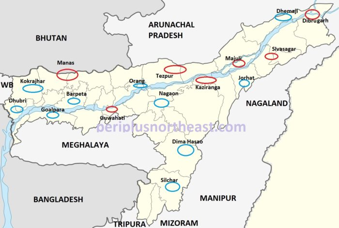 Assam Tourist Map