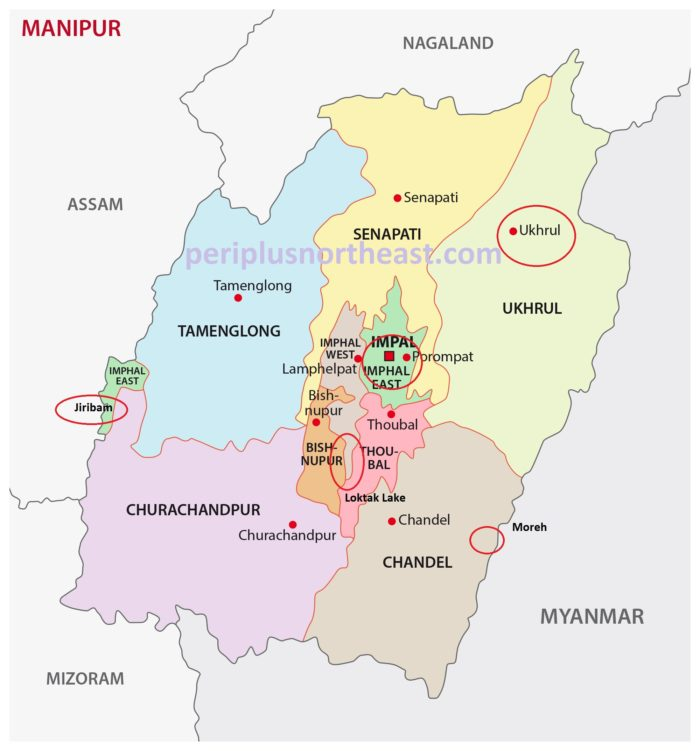 Manipur Tourist Map