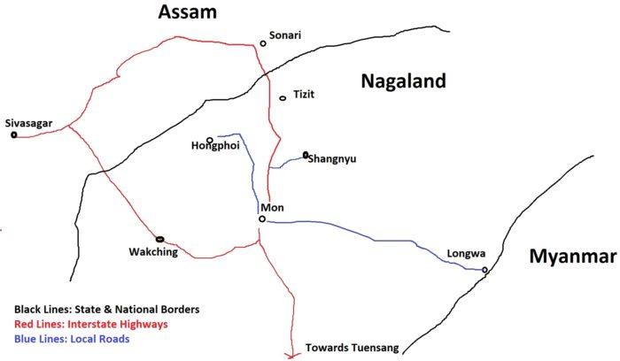 Mon Longwa Tourist Map