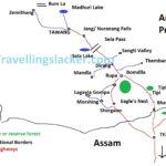 Tawang Dirang Bomdila Tourist Map