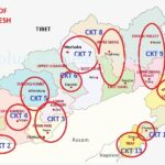 Arunachal Tourist Circuits Map